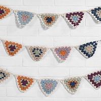 オーガニックコットン・ガーラント Organic cotton crochet bunting (S:0390)