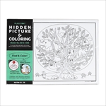 プレイスマット ヒドゥン ピクチャー&カラーリング / PLACE MAT HIDDEN PICTURE&COLORING