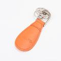 オレンジ 本革製靴ベラキーホルダー�U